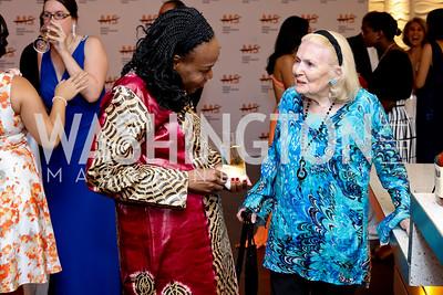 Niger Amb. Hassana Alidou, Donna Shor. Photo by Tony Powell. 2016 Ambassadors Ball. Marriott Marquis. September 13, 2016