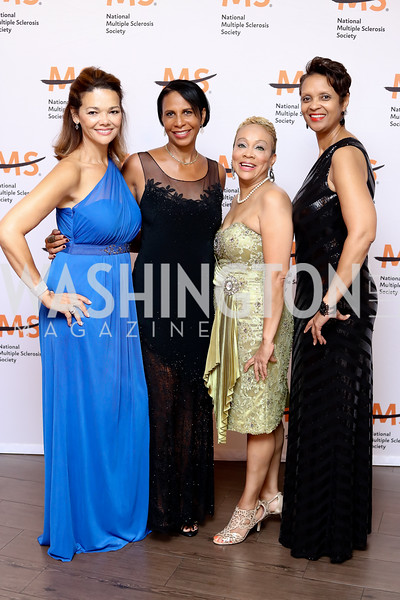 Perrie Williams, Bonnie Newkirk-Graves, Denise Moore, Gail Childers-Oates. Photo by Tony Powell. 2016 Ambassadors Ball. Marriott Marquis. September 13, 2016