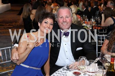 Amber and Jeff Burton. Photo by Tony Powell. 2016 Ambassadors Ball. Marriott Marquis. September 13, 2016