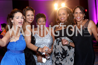 Perrie Williams, Gail Oates, Kim Thomas, Laveta Burke, Bonnie Newkirk-Graves. Photo by Tony Powell. 2016 Ambassadors Ball. Marriott Marquis. September 13, 2016