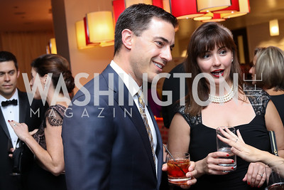 Brooks Brunson, Kathleen Huzarsky. Photo by Tony Powell. 2016 Ambassadors Ball. Marriott Marquis. September 13, 2016