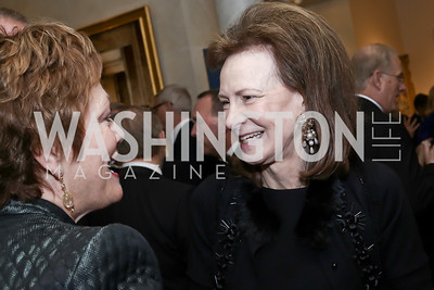 Ellen Tauscher, Lally Weymouth. Photo by Tony Powell. 2016 Atlantic Council Distinguished Leadership Awards. May 3, 2016