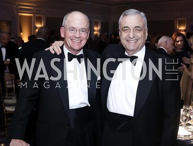 Richard Lawson, Peter Ackerman. Photo by Tony Powell. 2016 Atlantic Council Distinguished Leadership Awards. May 3, 2016