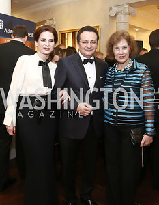 Anamaria Maior and Romania Amb. George Maior, Bulgaria Amb. Elena Poptodorova. Photo by Tony Powell. 2016 Atlantic Council Distinguished Leadership Awards. May 3, 2016