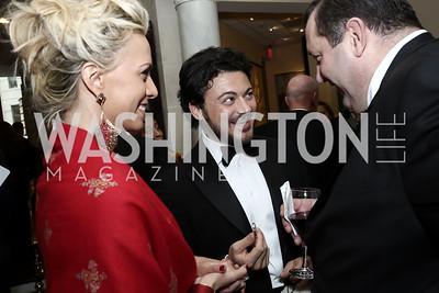 Beatrice Mozzi, Vittorio Grigolo, Robert Schulz. Photo by Tony Powell. 2016 Atlantic Council Distinguished Leadership Awards. May 3, 2016