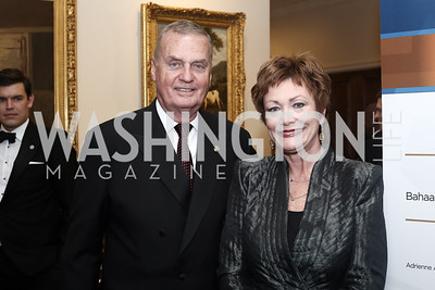 Gen. Jim Jones, Ellen Tauscher. Photo by Tony Powell. 2016 Atlantic Council Distinguished Leadership Awards. May 3, 2016