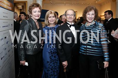 Ellen Tauscher, Paula Dobriansky, Daniel Fried, Bulgaria Amb. Elena Poptodorova. Photo by Tony Powell. 2016 Atlantic Council Distinguished Leadership Awards. May 3, 2016