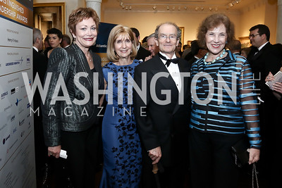 Ellen Tauscher, Paula Dobriansky, Daniel Fried, Bulgaria Amb. Elena Poptodorova. Photo by Tony Powell. 2016 Atlantic Council Distinguished Leadership Awards. May 3, 2016