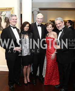 Nelson Cunningham, Rosa Puech, C. Boyden Gray, Adrienne Arsht, Peter Schechter. Photo by Tony Powell. 2016 Atlantic Council Distinguished Leadership Awards. May 3, 2016