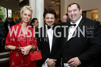 Beatrice Mozzi, Vittorio Grigolo, Robert Schulz. Photo by Tony Powell. 2016 Atlantic Council Distinguished Leadership Awards. May 3, 2016