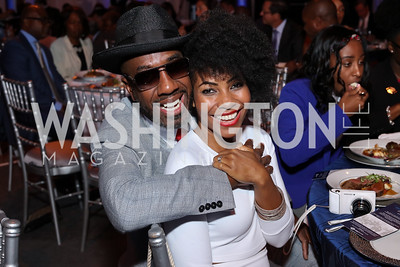 JB Smoove and Shahidah Omar. Photo by Tony Powell. BGCA National Youth of the Year. Building Museum. September 27, 2016