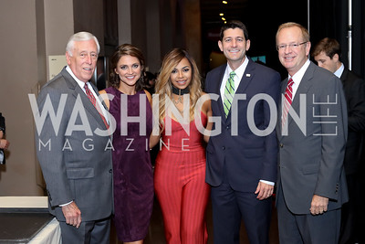 Rep. Steny Hoyer, Emcee Paula Faris, Ashanti, Speaker Paul Ryan, BGCA CEO Jim Clark. Photo by Tony Powell. BGCA National Youth of the Year. Building Museum. September 27, 2016