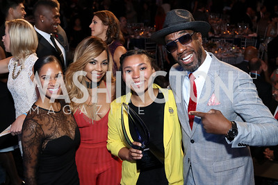 Ashanti, Misty Copeland, 2016 YOY Jocelyn Woods, JB Smoove. Photo by Tony Powell. BGCA National Youth of the Year. Building Museum. September 27, 2016