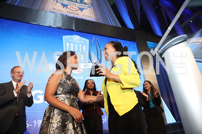 2015 YOY Whitney Stewart with 2016 YOY Jocelyn Woods. Photo by Tony Powell. BGCA National Youth of the Year. Building Museum. September 27, 2016