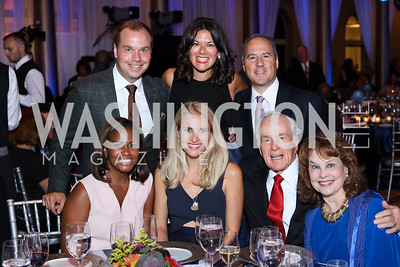 Lynne Lightfoote, Matt Bronczek and Ashley Taylor Bronczek, Stephanie Strategos Polis and John Polis, Lloyd and Ann Hand. Photo by Tony Powell. BGCA National Youth of the Year. Building Museum. September 27, 2016