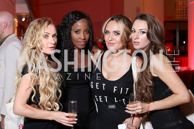 Ekaterina Flis, Doreen Taderera, Gia Veskler, Valerie Volynkina. Photo by Tony Powell. Beyond the Little Black Dress. La Maison Française. Septemeber 23, 2016