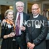 Stephanie and David Deutch, Rev. Canon Preston Hannibal. Photo by Tony Powell. Bishop Walker School Dinner. Willard Hotel. March 3, 2016