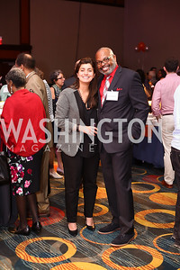 Mona Siam, Bryan Murrell. Photo by Tony Powell. 2016 CPD Annual Gala. Grand Hyatt. May 24, 2016