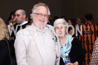 Larry Mishel, Terri Shuck. Photo by Tony Powell. 2016 CPD Annual Gala. Grand Hyatt. May 24, 2016
