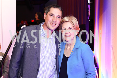 Eric Pica, Elizabeth Warren. Photo by Tony Powell. 2016 CPD Annual Gala. Grand Hyatt. May 24, 2016