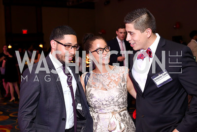 National Council La Rasa's Franklin Pichardo, Naomi Sosa, and Antonio Caro. Photo by Tony Powell. 2016 CPD Annual Gala. Grand Hyatt. May 24, 2016