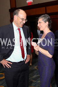 AFL-CIO's Damon Silvers, Amy Carroll. Photo by Tony Powell. 2016 CPD Annual Gala. Grand Hyatt. May 24, 2016