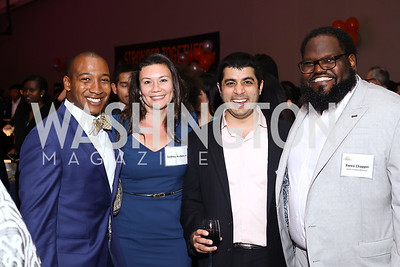 Tahir Duckett, Audrey Anderson, Nirmal Mankani, Kwesi Chappin. Photo by Tony Powell. 2016 CPD Annual Gala. Grand Hyatt. May 24, 2016