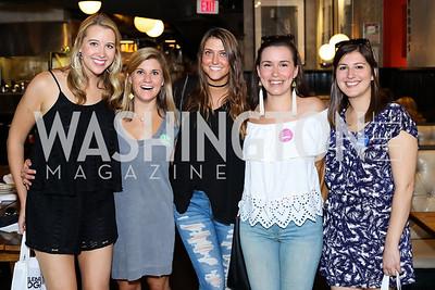 Meg Szumski, Katherine Skilling, Tina Kelly, Lucille Crowley, Maggie Thomas. Photo by Tony Powell. Celebrate Logan. September 17, 2016