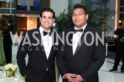 Mario Acosta-Velez, Darrell Maxwell. Photo by Tony Powell. 2016 Chamber's Choice Awards & Gala. Marriott Marquis. November 4, 2016