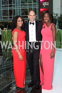 Janelle Morris, Justin Silvers, Brittany Osazuwa. Photo by Tony Powell. 2016 Chamber's Choice Awards & Gala. Marriott Marquis. November 4, 2016