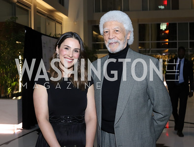 Katrina Frolov, Ron Dellums. Photo by Tony Powell. 2016 Chamber's Choice Awards & Gala. Marriott Marquis. November 4, 2016