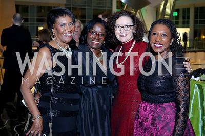 Estell Lloyd, Linda Boyd, Mila Kofman, Tonya Kinlow. Photo by Tony Powell. 2016 Chamber's Choice Awards & Gala. Marriott Marquis. November 4, 2016