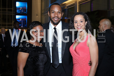 Kimberly Douglas, Rahsaan Bernard, Marceé White. Photo by Tony Powell. 2016 Chamber's Choice Awards & Gala. Marriott Marquis. November 4, 2016