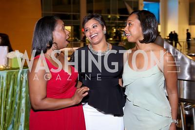 Janene Jackson, Tiffany Rose, Leila Battles. Photo by Tony Powell. 2016 Chamber's Choice Awards & Gala. Marriott Marquis. November 4, 2016
