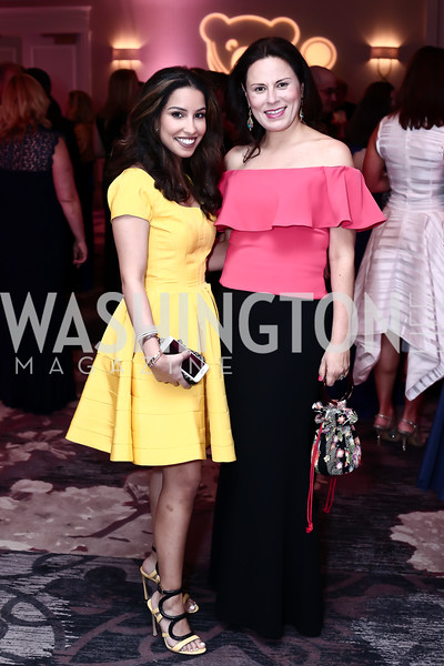 Noor AlHamad, Margarita Arroyave-Wessel. Photo by Tony Powell. 2016 Children's Ball. Ritz Carlton. April 15, 2016