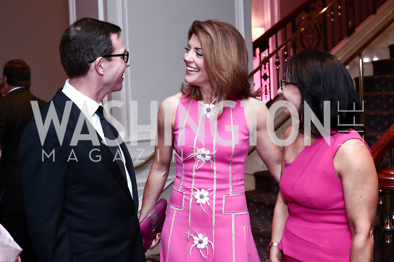 Robert Allbritton, Norah O'Donnell, Elena Allbritton. Photo by Tony Powell. 2016 Children's Ball. Ritz Carlton. April 15, 2016