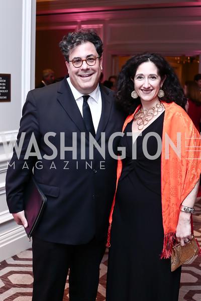 Alan Fleischmann, Dafna Tapiero. Photo by Tony Powell. 2016 Children's Ball. Ritz Carlton. April 15, 2016