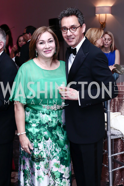 Cidalia Akbar, Masud Akbar. Photo by Tony Powell. 2016 Children's Ball. Ritz Carlton. April 15, 2016