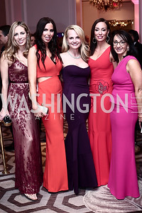 Amy Donnelly, Amy Baier, Jamie Dorros, Kristin Cecchi, Elena Allbritton. Photo by Tony Powell. 2016 Children's Ball. Ritz Carlton. April 15, 2016
