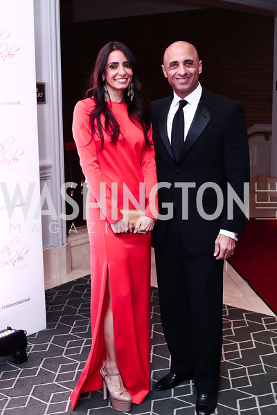 Abeer Al Otaiba and UAE Amb. Yousef Al Otaiba. Photo by Tony Powell. 2016 Children's Ball. Ritz Carlton. April 15, 2016