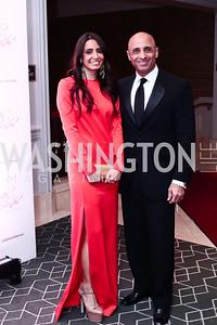 Abeer Al Otaiba and UAE Amb. Yousef Al Otaiba. Photo by Tony Powell. 2016 Children's Ball. Ritz Carlton. April 15, 2016