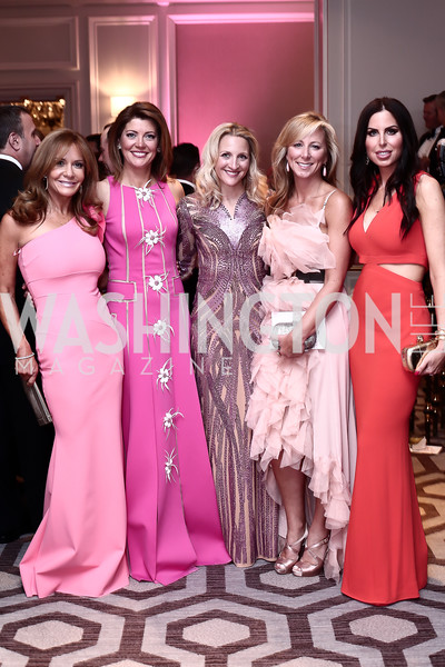 Patrice Brickman, Norah O'Donnell, Carrie Marriott, Jean-Marie Fernandez, Amy Baier. Photo by Tony Powell. 2016 Children's Ball. Ritz Carlton. April 15, 2016