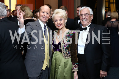 William Schuiling, Carol and Climis Lascaris. Photo by Tony Powell. 2016 Choral Arts Gala. Kennedy Center. December 19, 2017