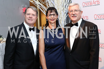 Nick Smith, Anita Dahinden, Swiss Amb. Martin Dahinden. Photo by Tony Powell. 2016 Choral Arts Gala. Kennedy Center. December 19, 2017