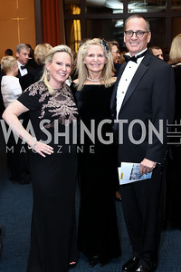 Olwen Pongrace, Maeve and Bob Rigler. Photo by Tony Powell. 2016 Choral Arts Gala. Kennedy Center. December 19, 2017