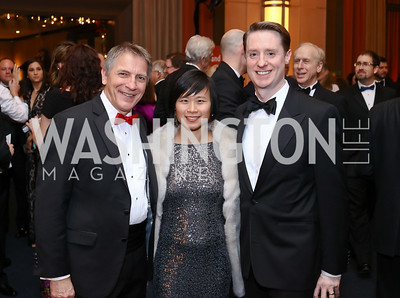 Conductor Scott Tucker and Julie Huang Tucker, Exec. Dir. Tad Czyzewski. Photo by Tony Powell. 2016 Choral Arts Gala. Kennedy Center. December 19, 2017