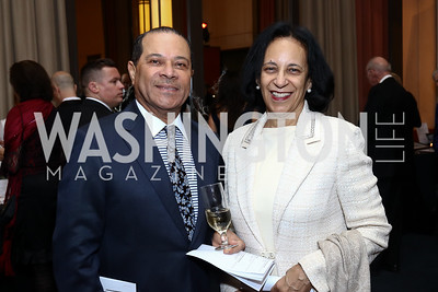 Fuad Al-Hinai and Oman Amb. Hunaina Al-Mughairy. Photo by Tony Powell. 2016 Choral Arts Gala. Kennedy Center. December 19, 2017