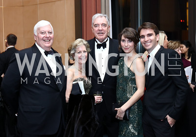 Rick and Molly Rolandi, Philip and Scarlett Bermingham, Bermingham and Andrew Rhymer. Photo by Tony Powell. 2016 Choral Arts Gala. Kennedy Center. December 19, 2017