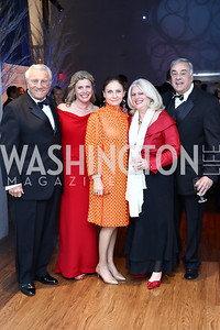 Tom and Leslie Sandoz, Ronit Ziswiler, Leigh and Rick Leverier. Photo by Tony Powell. 2016 Choral Arts Gala. Kennedy Center. December 19, 2017