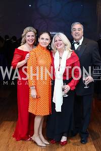 Leslie Sandoz, Ronit Ziswiler, Leigh and Rick Leverier. Photo by Tony Powell. 2016 Choral Arts Gala. Kennedy Center. December 19, 2017